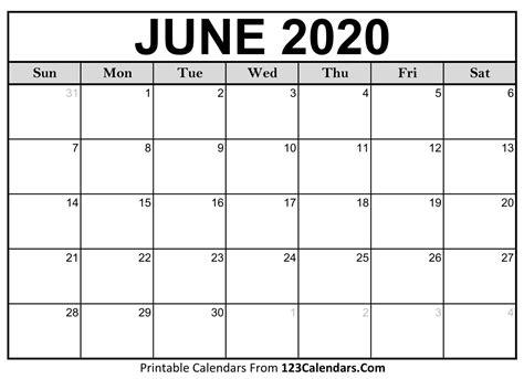 june  calendar calendarscom