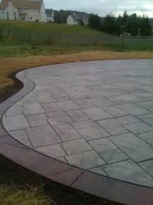 patio border sted concrete patio w border sted concrete patio w