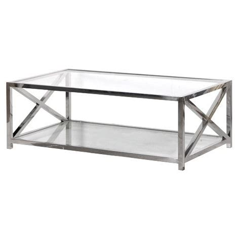 Chrome And Glass Coffee Tables Criss Cross Glasses And Glass Coffee Tables On