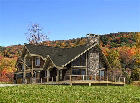 post and beam mountain home plans home plan