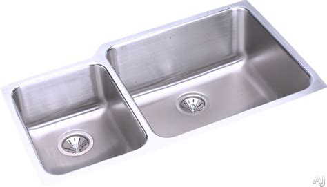 stainless steel sink undercoating elkay eluh3520 35 quot undermount double bowl stainless steel