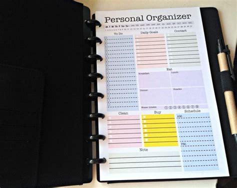 printable personal planner organizer mini personal organizer half letter size editable