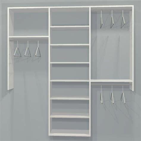 Standard Closet by Standard Closet Kit W Shelving 3 Sect 4 7ft