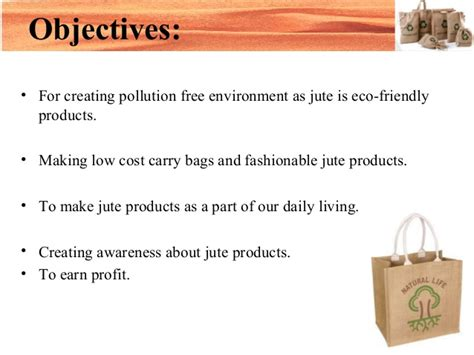business plan of jute bag