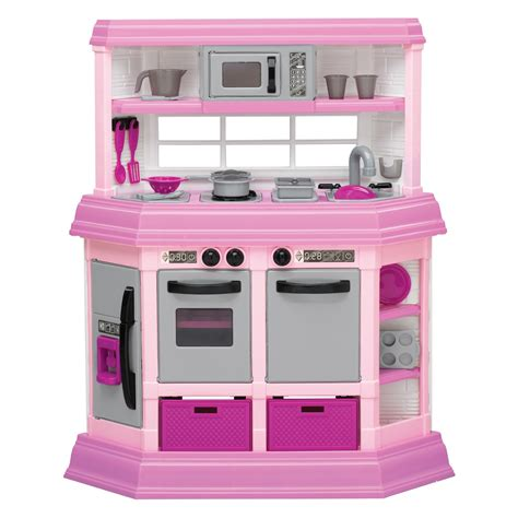 Kitchen Set Pink american plastic toys custom kitchen pink play