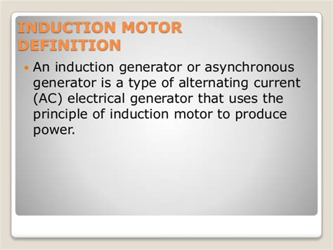 induction generator definition induction generator and synchronous induction motor