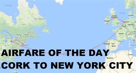airfare of the day klm cork ireland to new york city economy class 337 trip