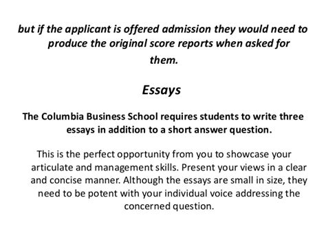 Columbia Mba Optional Essay by Columbia Mba Optional Essay Researchon Web Fc2