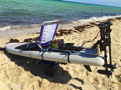 paddle board with install electric motor on any sup paddle board