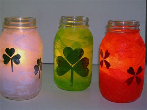 Decoupage Candle Jars - decoupage jars houses plans designs