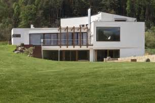 partly cellared modern house different characters inner