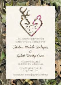 Camouflage Invitation Template by Camo Deer Hearts Wedding Invitation And Rsvp Card By