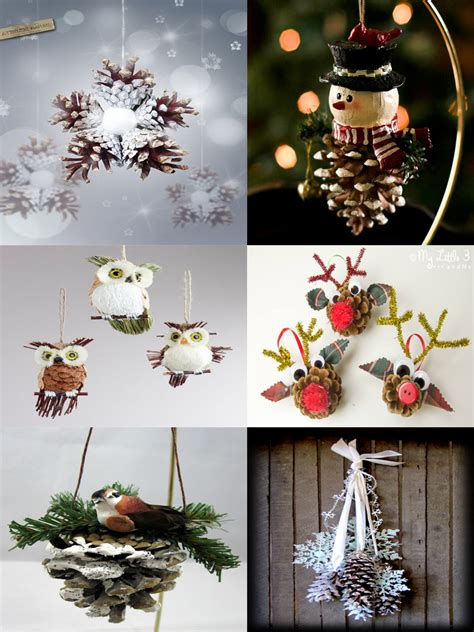 easy  cute diy pine cone christmas crafts moco choco