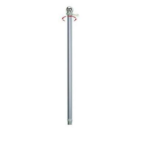 10 foot aluminum flag pole valley forge flag 2 brushed aluminum spinning flag