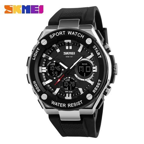 Jam Tangan Sport jual jam tangan pria skmei dual time sport led