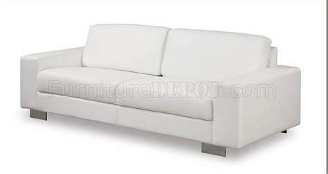 white vinyl sofa white leather vinyl contemporary living room sofa w metal legs
