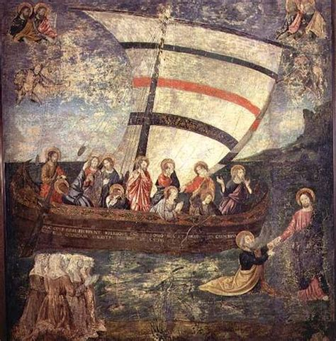 giotto navicella christ walking on the water after the antoniazzo