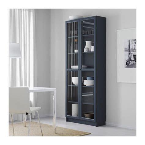 ikea armoire billy billy biblioth 232 que avec porte vitr 233 e bleu fonc 233 ikea bibliotheque