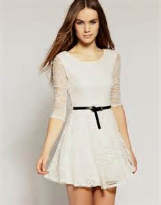 celebrity inspired white lace casual dresses designers