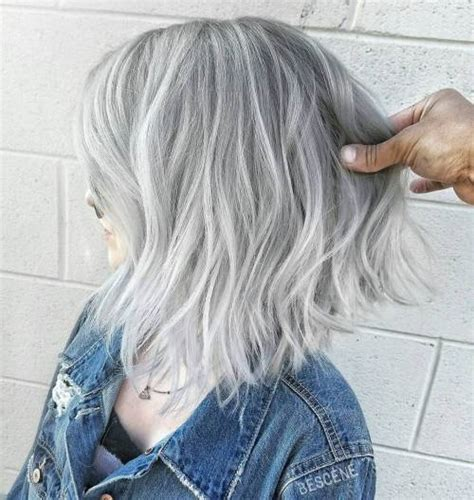 shagy short with silver highlights haistyles 45 ideas of gray and silver highlights on brown hair