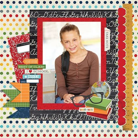 scrapbook layout for school picture 10 single photo back to school scrapbook pages scrap booking