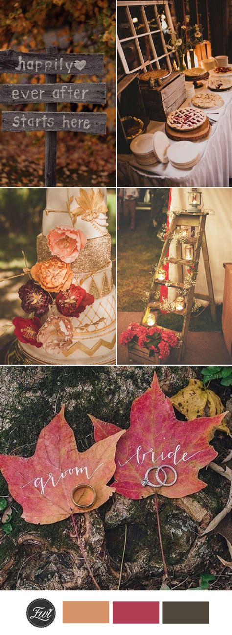 wedding ideas for fall top 10 fall wedding color ideas for 2017 trends