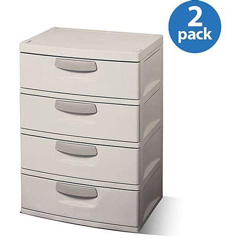 Sterilite Storage Drawers Walmart by Sterilite 4 Drawer Cabinet 2 Pack 119 00