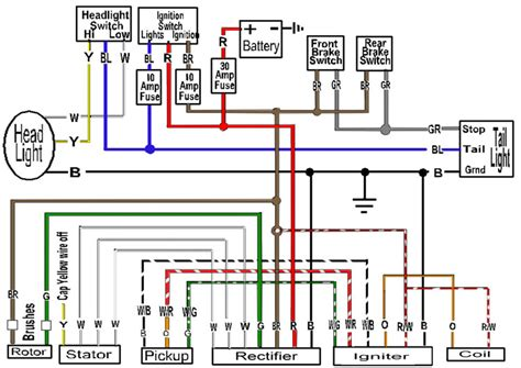 basic xs650 headlight wiring diagram wiring diagram with