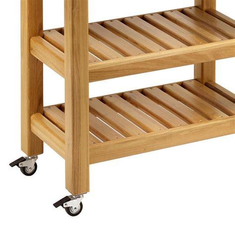 carrelli da cucina in legno carrello da cucina in legno massello 60x40xh85 cm con