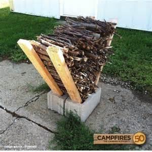 diy firewood rack 50 cfires