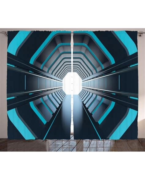 outer curtain outer space curtain lunar moon scene print 2 panel window