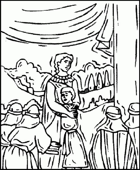 coloring pages joseph forgives his brothers coloring home
