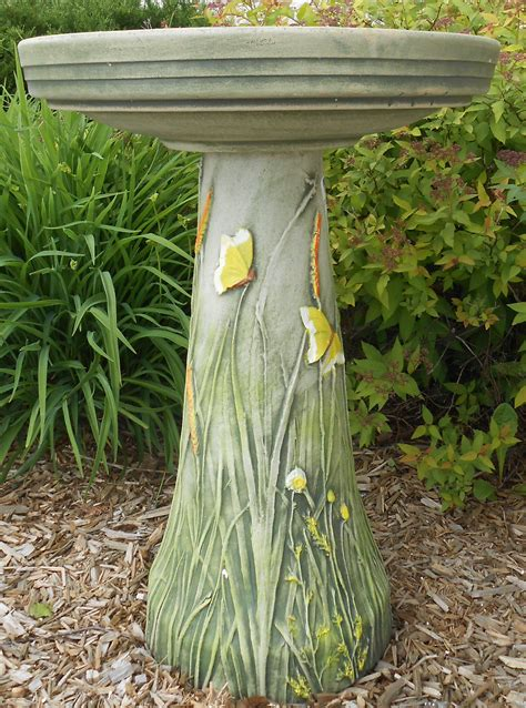 backyard chirper bird s choice clay butterfly bird bath