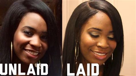 how to my to lay how to lay your wig with unrelaxed edges