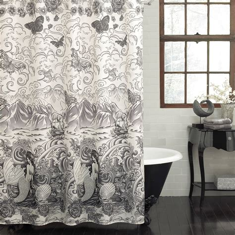 black and white fabric shower curtains black and white fabric shower curtain interior home design ideas