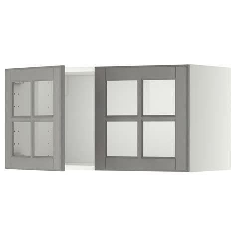 etagere 80x40 metod bovenkast met 2 vitrinedeuren wit bodbyn grijs 80x40