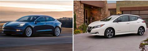 nissan leaf 2018 model tesla model 3 vs 2018 nissan leaf a side by side comparison
