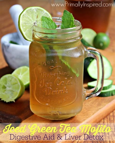 Green Tea Liver Detox by Iced Green Tea Mojito Primally Inspired