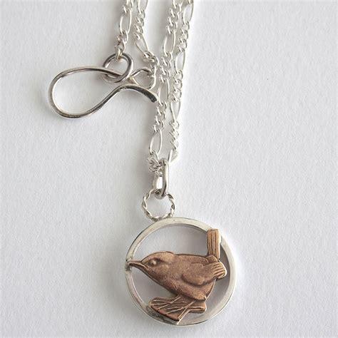 silver wren necklace by eardley