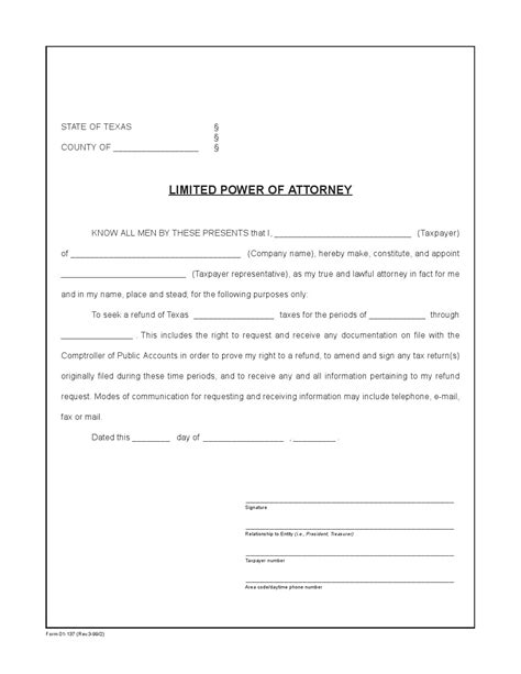 temporary power of attorney template free limited power of attorney form adobe pdf word