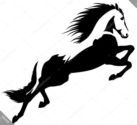 imagenes en blanco y negro de hulk blanco y negro pintura lineal dibujar caballo ilustraci 243 n