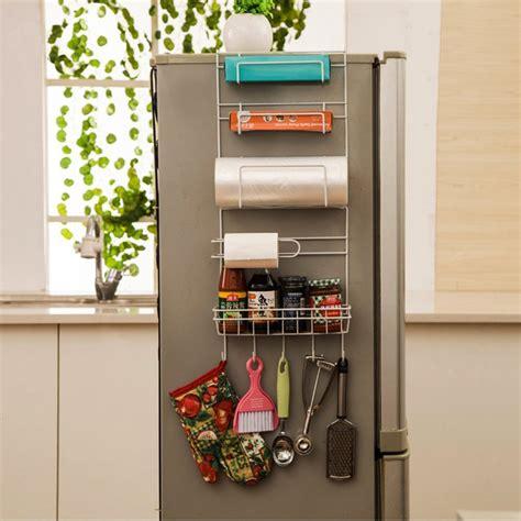 Kitchen Refrigerator Organizer Refrigerator Side Storage Rack Space Saver Kitchen Storage