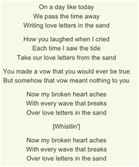 Letter In The Sand Pat Boone Lyrics April Recorded By Pat Boone Lyrics By Paul Francis By Sammy Fain Songs