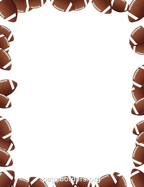 footballs border clip art page border  vector graphics