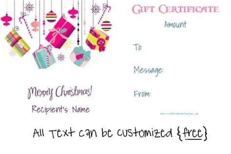 Free Editable Christmas Gift Certificate Template 23 Designs Merry Gift Certificate Templates
