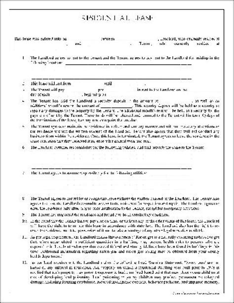 free apartment lease template lease form free printable documents
