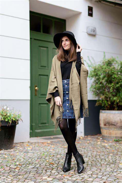 wear  denim skirt  winter mode en kleding