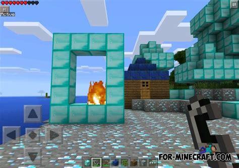 minecraft pe new portal diamond portal mod for minecraft pocket edition