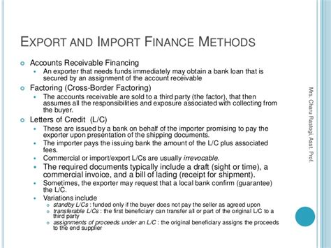 business letter sles for export and import trade 5 methods of payment in international trade export and