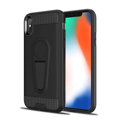 wholesale iphone xr 6 1in metallic plate stand work with magnetic mount holder black